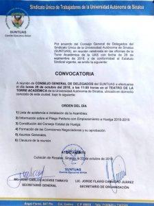 Convocatoria 22/10/2018.